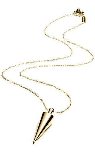 Medium eddie borgo gold spiked urn pendant