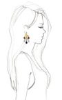 Challenge Earring by EDDIE BORGO for Preorder on Moda Operandi