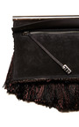 Brown Tapestry With Suede Chrome Bar Clutch by PROENZA SCHOULER for Preorder on Moda Operandi