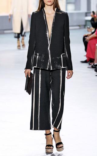 Black Garment Printed Cotton Coating Db Jacket by PROENZA SCHOULER for Preorder on Moda Operandi