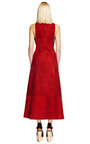 Burgundy Raw Suede Sleeveless Dress With Tie Front by PROENZA SCHOULER for Preorder on Moda Operandi
