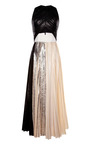 Silver Foil Print Pleated Cloque Sleeveless Pleated Dress by PROENZA SCHOULER for Preorder on Moda Operandi