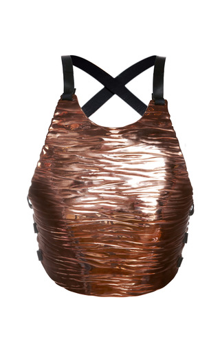 Medium proenza schouler metallic copper breast plate