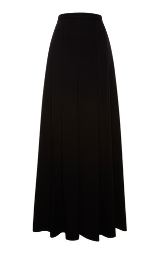 Medium proenza schouler black black viscose crepe full pant