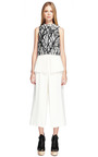 Off White Suiting Cropped High Waisted Pant by PROENZA SCHOULER for Preorder on Moda Operandi