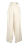 Ecru Suiting Cropped High Waisted Pant by PROENZA SCHOULER for Preorder on Moda Operandi