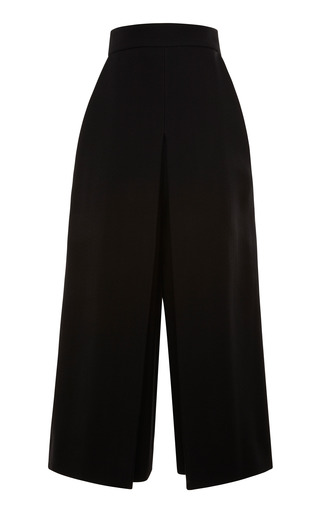 Medium proenza schouler black black suiting cropped high waisted pant
