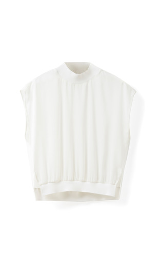 Medium 3 1 phillip lim white sleeveless top with rib trims 2