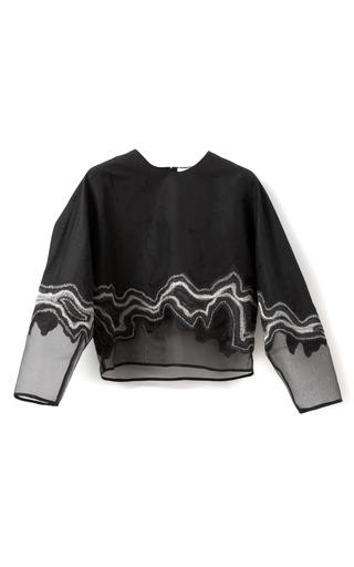 Medium 3 1 phillip lim black embroidered geode long sleeve top
