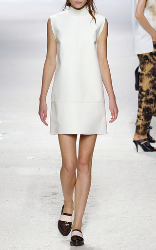 Back Fringed Shift Dress With Rib Detail by 3.1 PHILLIP LIM for Preorder on Moda Operandi