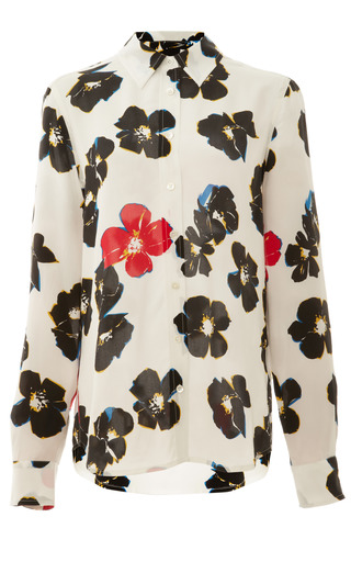 Acid Floral Printed 16 Mm Cdc Brett Clean by EQUIPMENT for Preorder on Moda Operandi