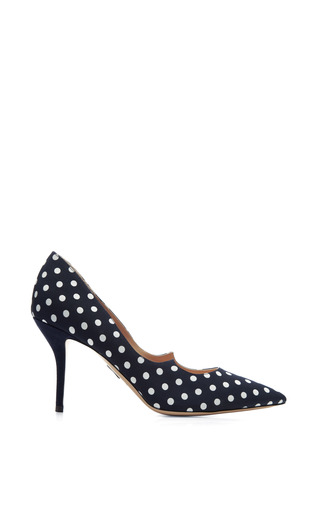 Medium paul andrew white mo exclusive kimura grosgrain and suede polka dot pumps