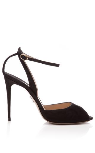 Medium paul andrew black mo exclusive europeaus suede ankle strap stilettos