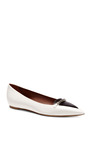 Alexa Chain Detail Leather Flats by TABITHA SIMMONS Now Available on Moda Operandi