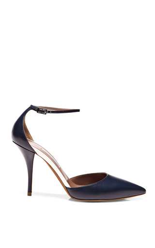 Medium tabitha simmons navy lou leather pumps