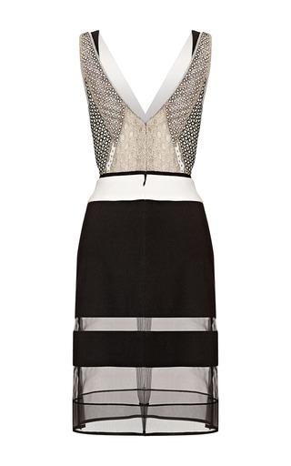 V Neck Fitted Silk Crepe Dress by J. MENDEL for Preorder on Moda Operandi