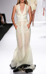 V Neck Pieced Gown by J. MENDEL for Preorder on Moda Operandi