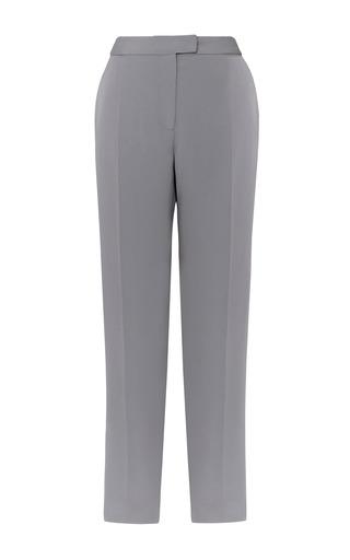 Medium j mendel dark grey matte crepe flat front pant