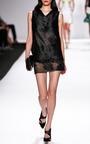 Leaf Motif Embroidered Tulle Mini Skirt by J. MENDEL for Preorder on Moda Operandi