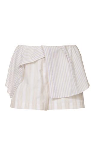 Medium thakoon addition purple cotton shirting shirttail shorts