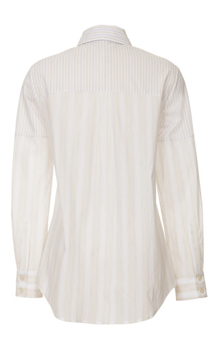 Cotton Shirting Hidden Pocket Blouse by THAKOON ADDITION for Preorder on Moda Operandi