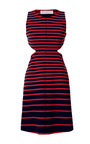 Doubleface Stripe Cutout Dress by THAKOON ADDITION for Preorder on Moda Operandi