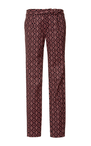 Medium thakoon addition red helix printed piquet trousers