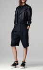 Leopard Jacquard Track Shorts by THAKOON ADDITION for Preorder on Moda Operandi