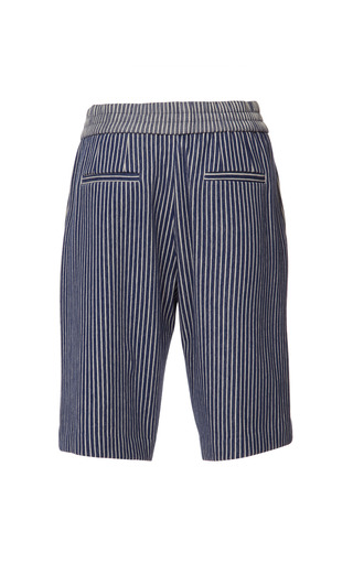 Striped Sweatshirt Knee Length Track Shorts by THAKOON ADDITION for Preorder on Moda Operandi