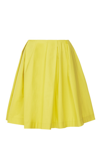 Medium thakoon addition yellow technical taffeta front gathered full skirt