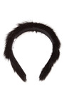 Rosie Pearl Embellished Mink Headband by EUGENIA KIM Now Available on Moda Operandi