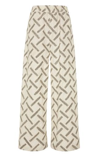 Medium suno white elastic waist maxi pants