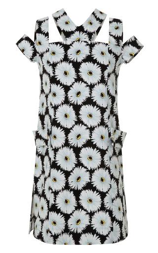 Medium suno black seamed tab dress