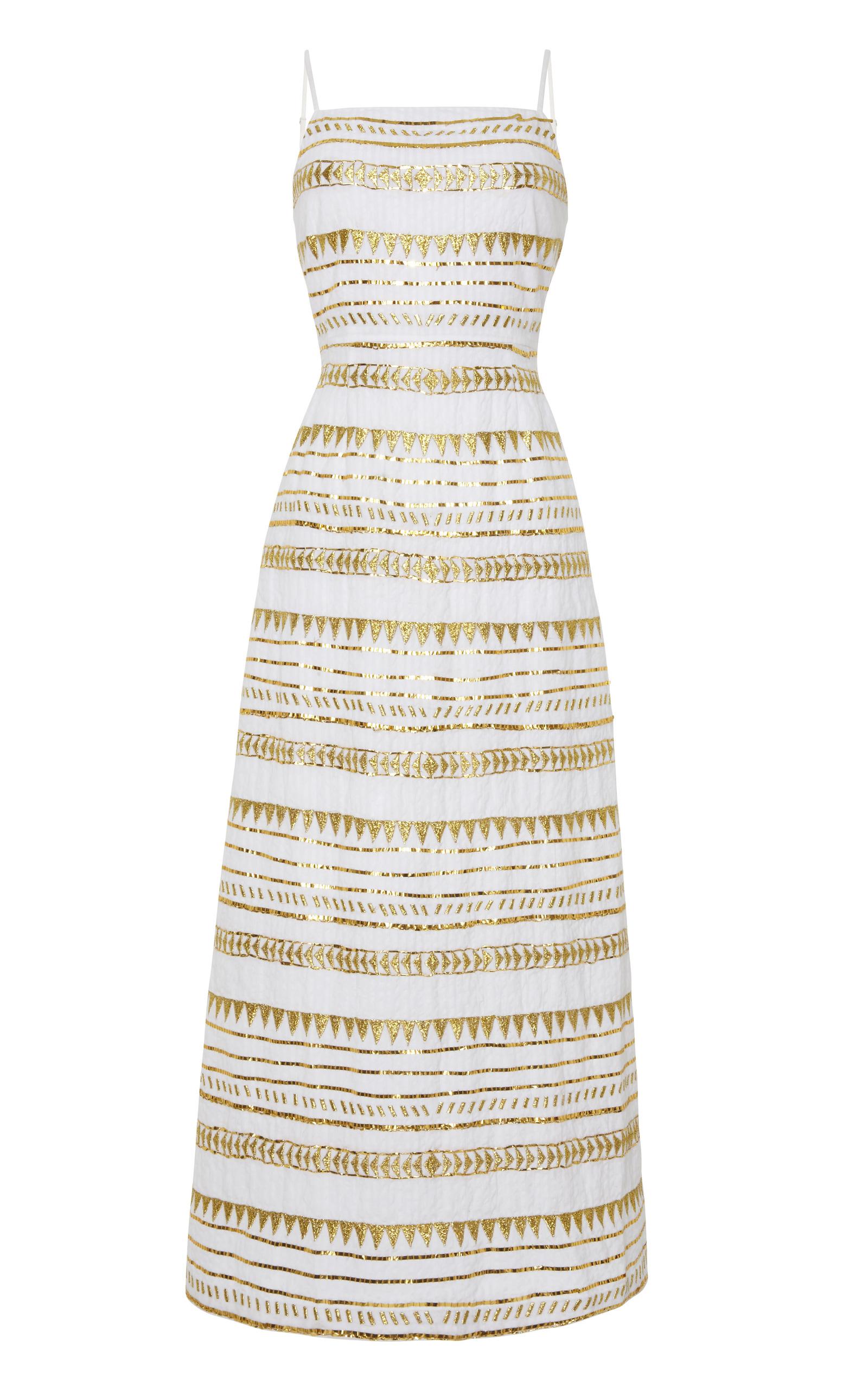 93851db7ed1e Gold Embroidery Maxi Dress by Suno