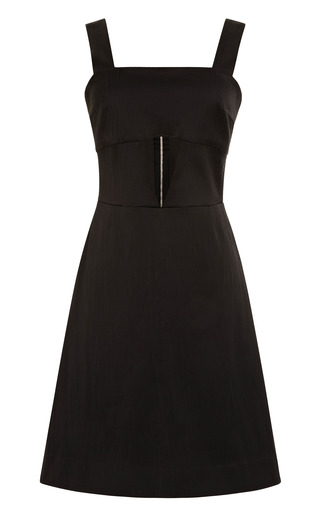 Medium suno black front cutout dress