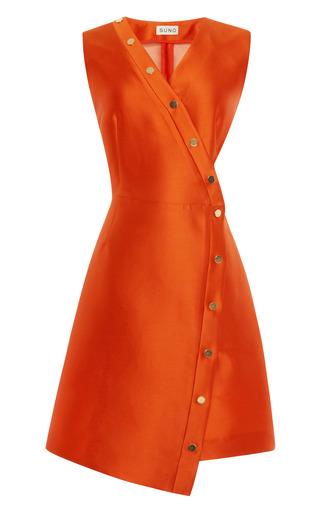 Medium suno orange cutout snap dress
