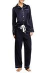 Audrey Silk Pajama Set by POPLIN Now Available on Moda Operandi