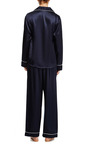 Audrey Silk Pajama Set by POPLIN Now Available on Moda Operandi