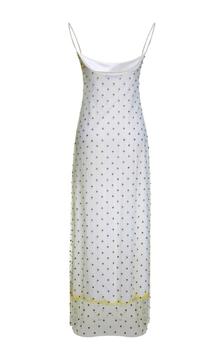 Estella Dress With Point D'esprit Embroidery by WES GORDON for Preorder on Moda Operandi