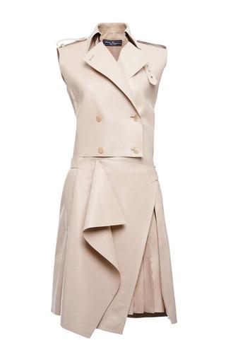 Medium salvatore ferragamo tan tailored lambskin trench dress