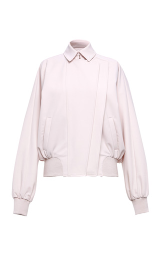 Medium salvatore ferragamo pink light rose technical cady bomber jacket
