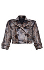 Hand Painted Python Cropped Jacket by SALVATORE FERRAGAMO for Preorder on Moda Operandi