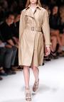 Sesame Lambskin Trench Coat by SALVATORE FERRAGAMO for Preorder on Moda Operandi