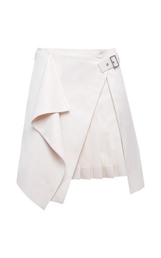 Medium salvatore ferragamo pink lightweight cotton wrap effect kilt skirt