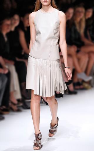 Lambskin Pleated Leather Skirt by SALVATORE FERRAGAMO for Preorder on Moda Operandi
