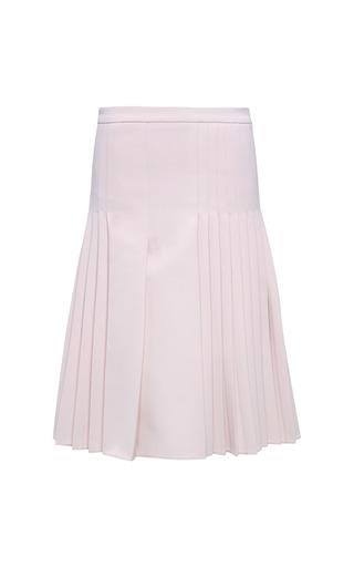 Medium salvatore ferragamo pink light rose technical cady drop pleat skirt