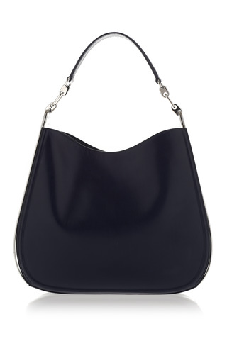 Oxford Blue Calfskin Hobo by SALVATORE FERRAGAMO for Preorder on Moda Operandi