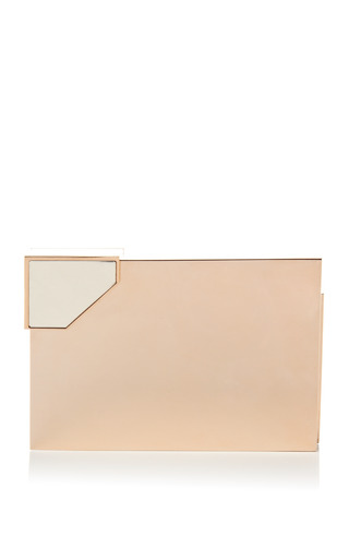 M'o Exclusive: Broken Space Rose Gold Plated Clutch by LEE SAVAGE Now Available on Moda Operandi