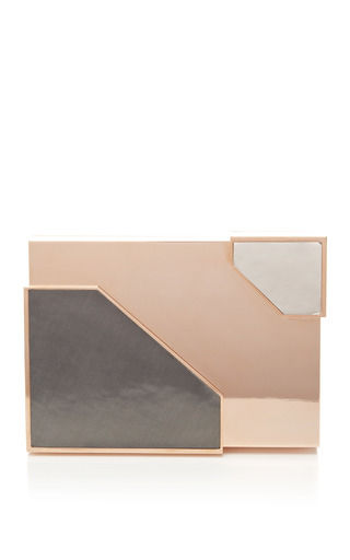 Medium lee savage gold mo exclusive broken space rose gold plated clutch