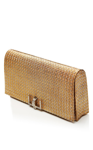 Vintage Tiffany & Co. Woven 18 K Gold & Diamond Clutch by CAMILLA DIETZ BERGERON, LTD. Now Available on Moda Operandi
